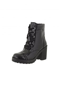 Bota Coturno Cr 1701 Verniz Preto CR Shoes
