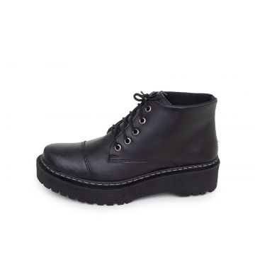 Bota Coturno Couro Dia a Dia Doc Shoes Preto Doc Shoes