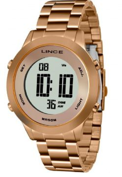 RELOGIO LINCE DIGITAL FEMININO ROSE GOLD Lince