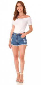 Short Jeans Express Hot Pants Polly Azul Use Jeans