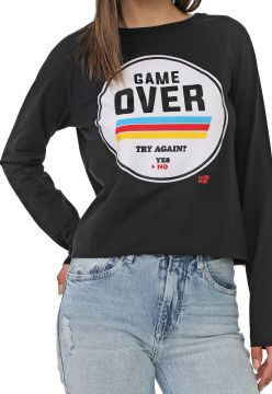 Blusa Ellus 2ND Floor Game Over Preta Ellus 2ND Floor