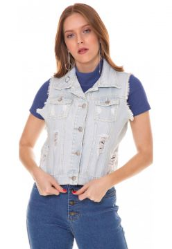 Colete Jeans Express Carol Azul Use Jeans