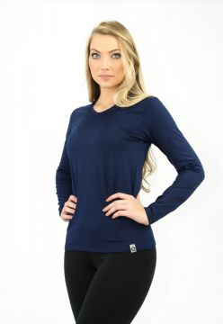 Blusa Manga Longa Térmica Question Sport Gola V E Fleece In