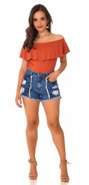 Short Jeans Express Hot Pants Duo Azul Use Jeans