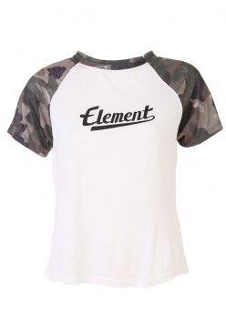 Blusa Element Rose Camo Girl Off-White/Verde