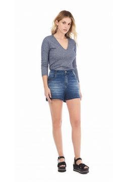 Short Zinco Five Pockets Com Elastano Jeans