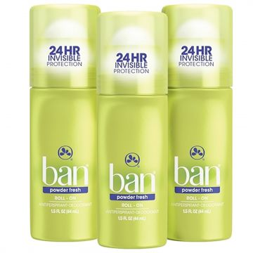 Ban Kit Desodorante Antitranspirante Roll-on 44ml Trio - Po