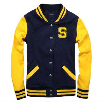 Jaqueta College Americana College4EVER Blue Yellow letra S