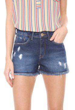 Short Jeans Hering Destroyed Azul