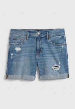 Short Jeans GAP Destroyed Azul