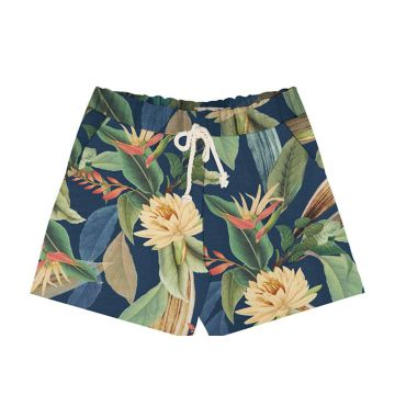 Short Estampado Feminino Endless Azul