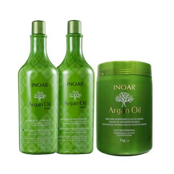 Kit Argan Oil Argan Shampoo 1000ml+Condicionador 1000ml+Más