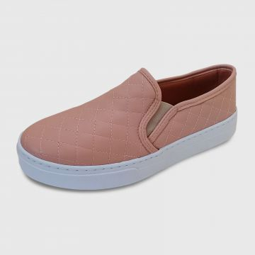 Tenis Casual Slip On Dia a Dia CRISTAISHOES Nude