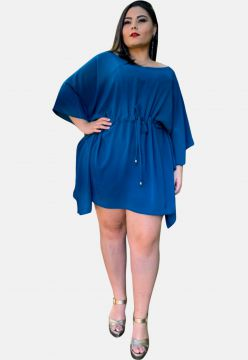Vestido Curto Casual TNM Collection Plus Size Social Festa