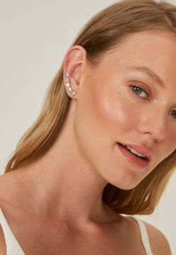 Ear AMARO Cuff Cristais Shapes Prata