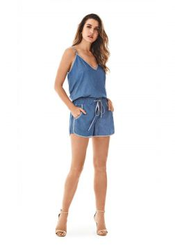Short Morena Rosa Boxer Vies Avesso Jeans