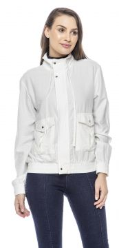 Jaqueta Bomber Lemier Collection Feminina Branca