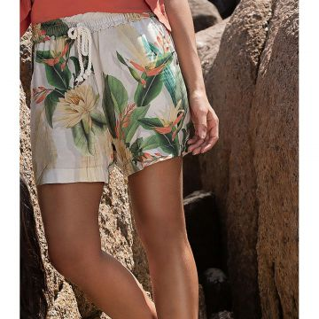 Short Estampado Feminino Endless Bege