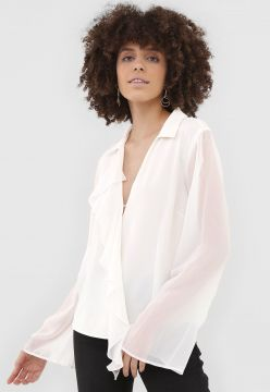 Camisa Bobstore Mousseline Off-White