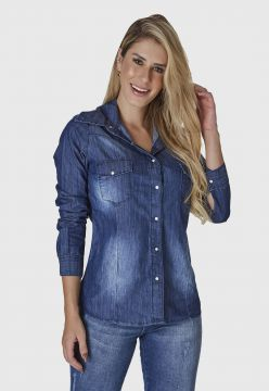 Camisa Jeans HNO Jeans AZUL
