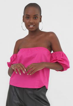 Blusa AMBER Ombro a Ombro Pink