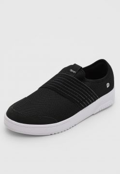 Slip On Dijean Lurex Preto