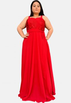 Vestido Longo TNM Collection Madrinha Festa Plus Size com R