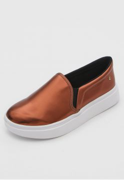 Slip On Flatform Dumond Metalizado Bronze