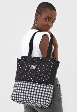 Bolsa Jump Up Fashion Preto/Branco