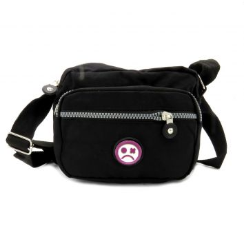 Shoulder Bag Dark Face Preta com alça transversal - DKFSBPT