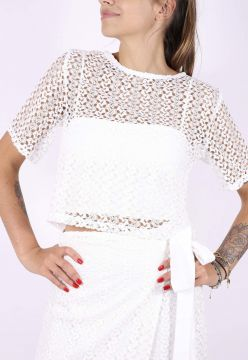 Cropped Superfluous Renda Off White