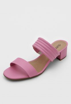 Tamanco DAFITI SHOES Tiras Rosa