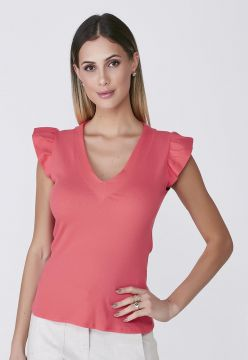 Blusa Celestine Muscle Tee Coral