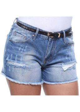 Short Boyfriend Jeans Feminino Crocker