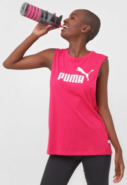 Regata Puma Essentials+ Cut Off Tank Pink