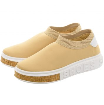 Tênis Madale Sneaker Shoes Calce Fácil Nude