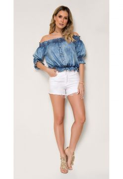Short Jeans Zait Hot Pants Marcia Branco