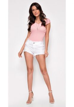 Short Jeans Zait Hot Pants Mondelle Branco