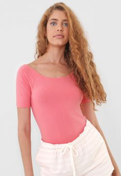 Blusa Hering Ombro a Ombro Rosa