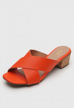 Tamanco DAFITI SHOES Transpasse Laranja