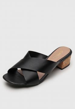 Tamanco DAFITI SHOES Transpasse Preto