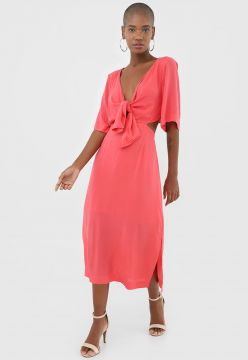 Vestido AMBER Midi Cut Out Rosa