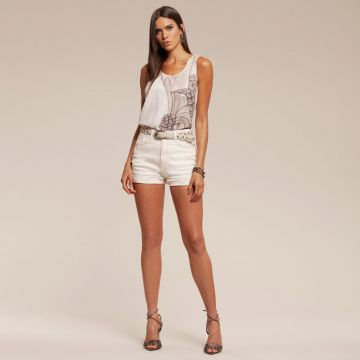 Short ACOSTAMENTO Jeans Off-white
