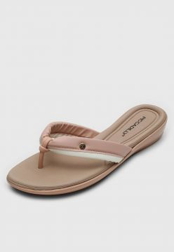 Tamanco Piccadilly Anabela Rosa/Off-White