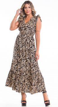 Vestido Fernanda Animal Print Use Fashionista