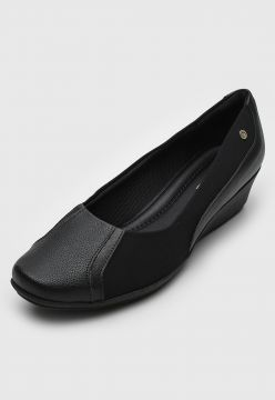 Scarpin Piccadilly Anabela Preto