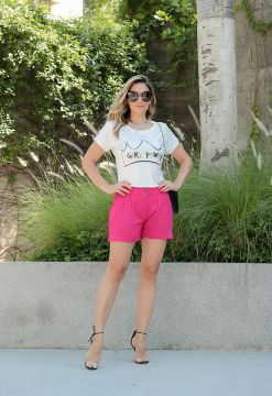 Short Casual Pink