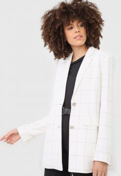 Blazer Dudalina Grid Off-White