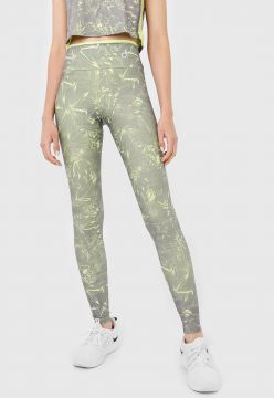 Legging Area Sports Folhagem Verde