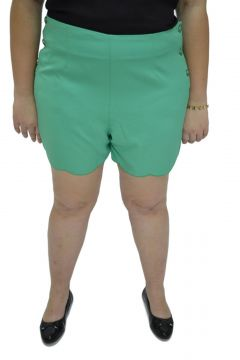 Short Tecido Energia Fashion Verde Oliva